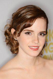 Emma Watson: Proving curled bangs can look elegant.