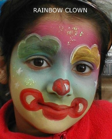 40 best face paint and costumes images on pinterest for Face painting clowns for birthday parties