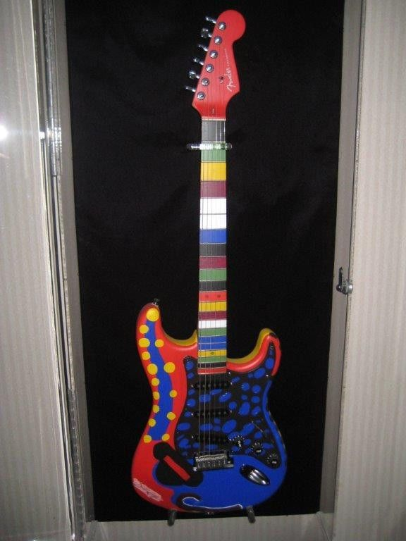 Fender Stratocaster Dustin Hoffman Hand Painted Autographed Electric Guitar