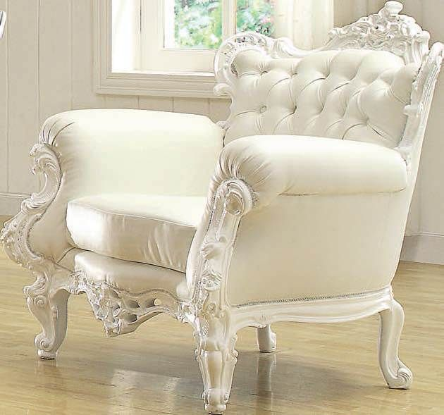 Neo Classic Glitzy White Accent Chair 59137 - 15 Best Images About Decor On  Pinterest Baroque - White Antique Chair Antique Furniture