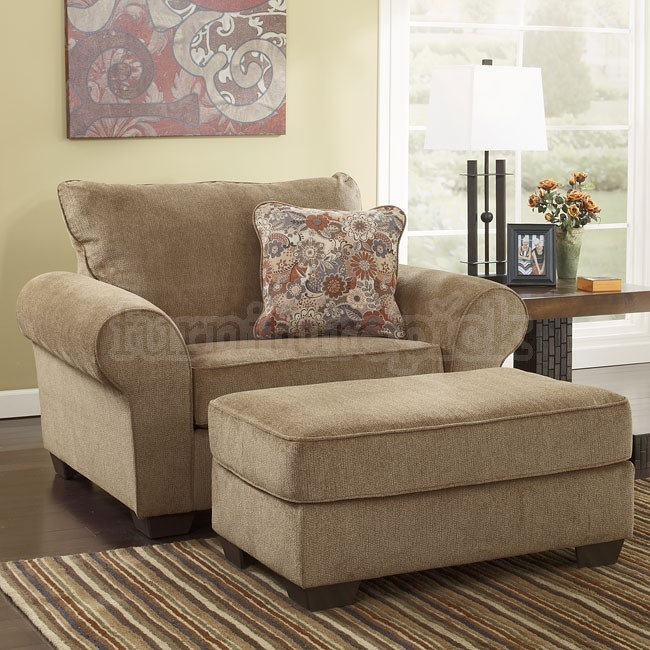My Comfy Reading Chair Amp Ottoman Galand Umber From Ashley