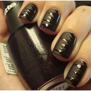 cute!  I love the matte polish: Matte Nails, Nails Art, Nailart, Nailpolish, Halloween Nails Design, Black Nails, Naildesign, Matte Black, Nails Polish