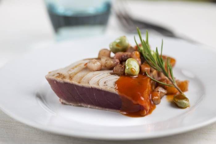 Tonno alla griglia in salsa rossa #Star #tonno #salsa #rossa #food #recipes #pesce