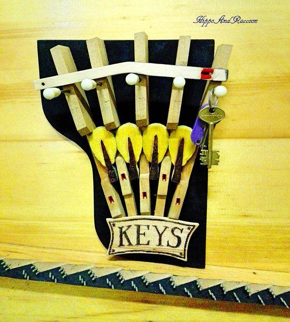 Piano keyholder Piano parts key holder key holder Wall