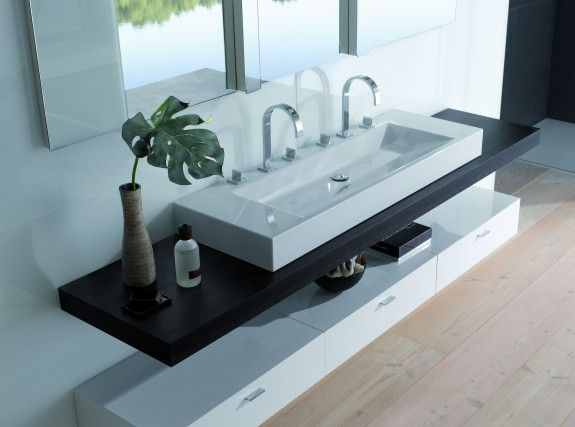 Perfect Download the catalogue and request prices of Betteaqua double washbasin by Bette countertop double rectangular washbasin design Schmiddem Design