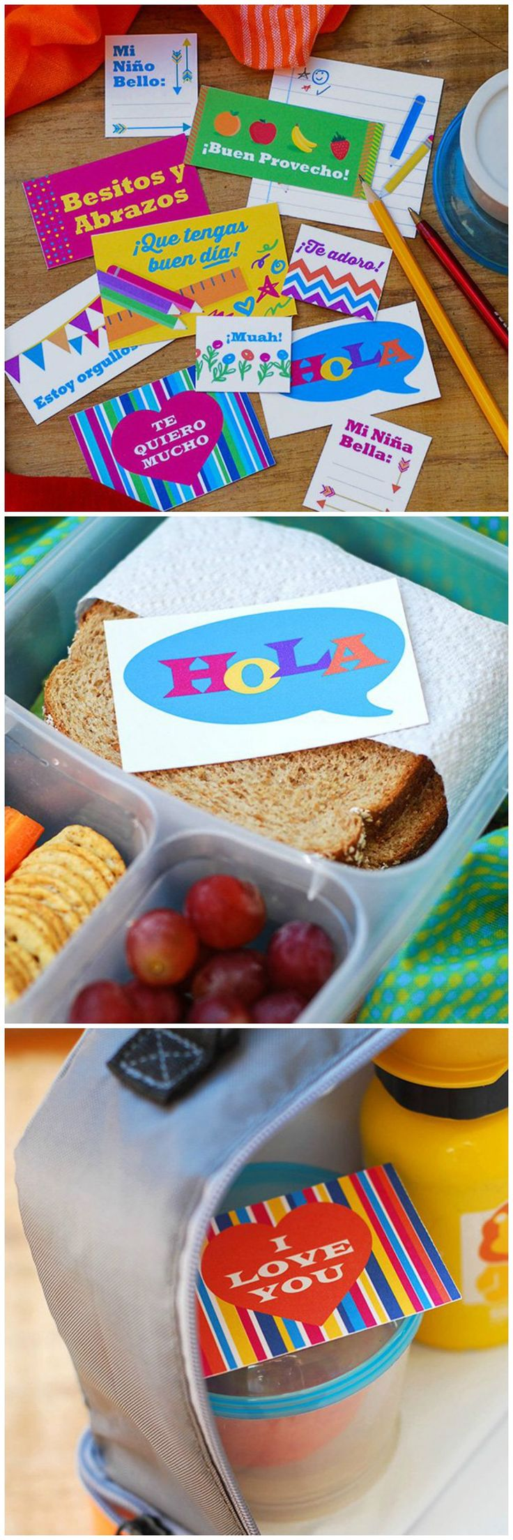 We love these adorable Printable Lunchbox Notes. Slip them in your kids lunch boxes to make them smile at school!