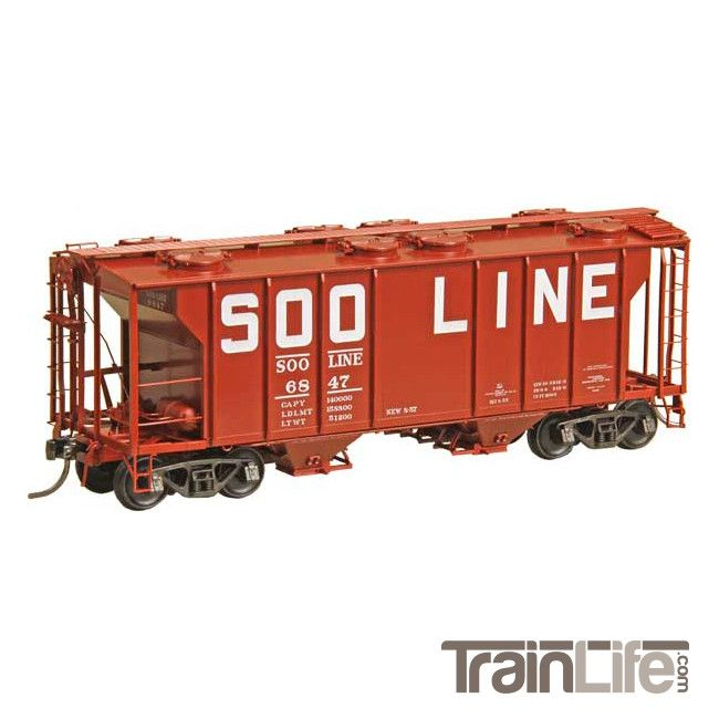 HO Scale: PS-2, 2 Bay 2003 Covered Hopper : SOO Line