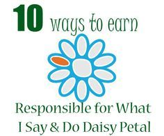Responsible for What I Say and Do   Orange Daisy Girl Scout Petal Ideas