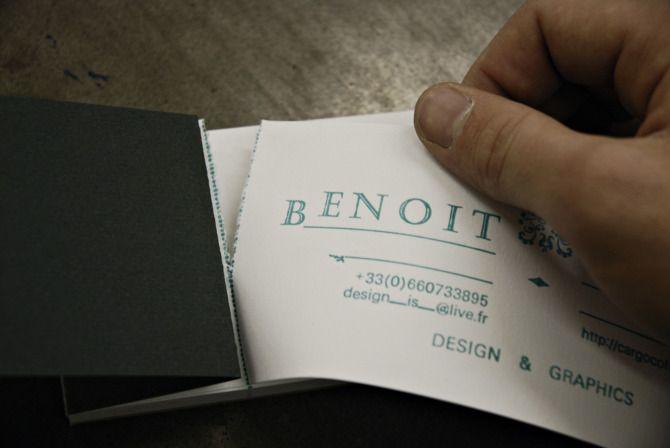 Tear off business card Benoit Olivie: Business Cards Smart, Visit Cards, Business Card Holders, Cards Ideas, Business Cards Booklet Jpg, Card Book, Biz Cards, Cards Books, Brilliant Ideas