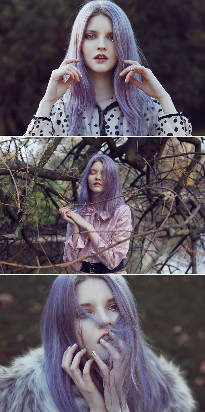 Purple hair. Photo by CECY YOUNG