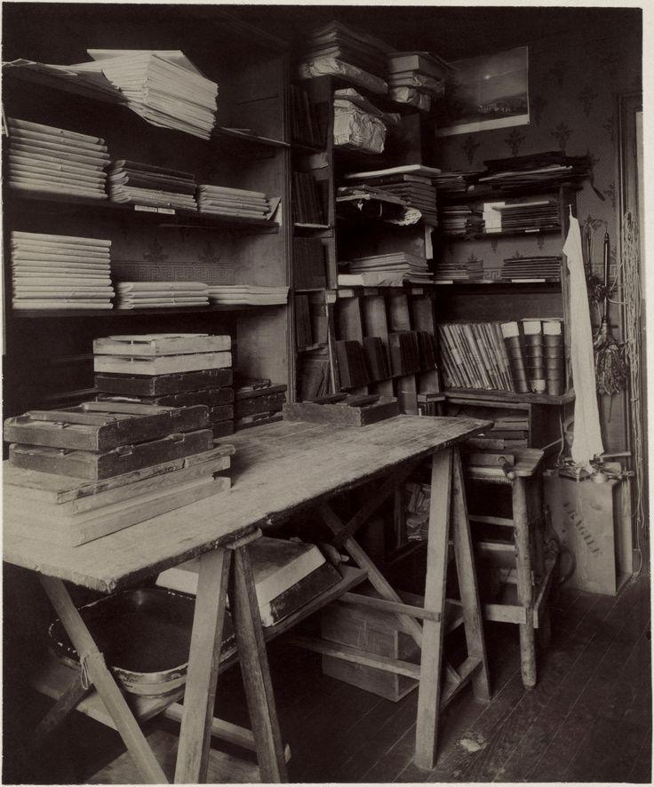 Eugene Atget's work room 1910