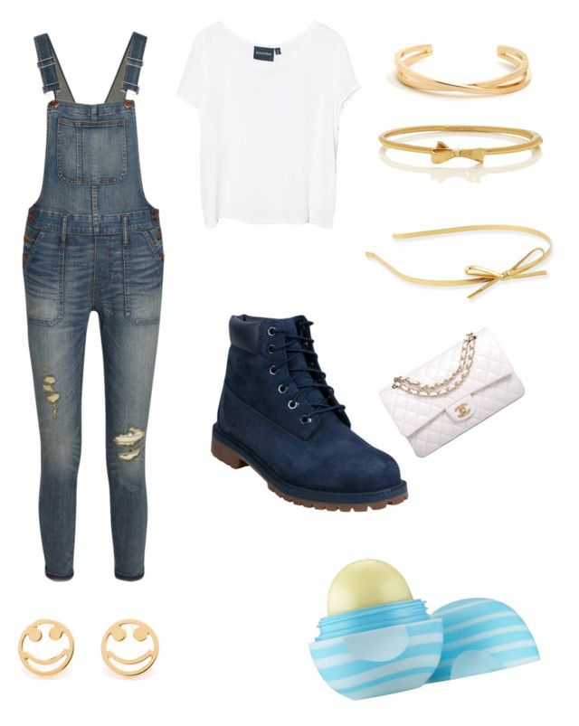 ? by amna107 on Polyvore featuring polyvore, fashion, style, MINKPINK, Madewell, Timberland, Chanel, Kate Spade, Rosa de la Cruz and Eos