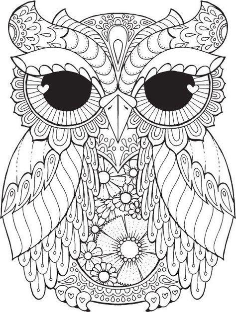 Kurby Owl - Farbe mit Me Hallo ANGEL - Malbücher, Gestaltung ...