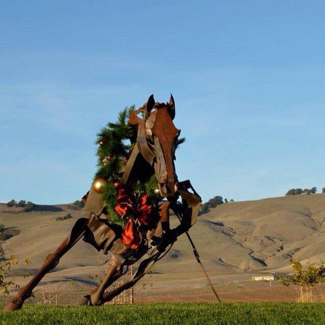 """Collaboration with @shandrikastudio !!! #collaboration #shandrikastudio #designer #Christmas #decoration  #décoration #Napa #California #Californie #Noël #USA #cheval #horse #art #wroughtiron #ferforgé #mountain #montagne #winery #interiordesign #design #archidintérieur #outdoors #extérieur #wine #vignoble #cave #garland #guirlande"" Photo taken by @aurelianeangel on Instagram, pinned via the InstaPin iOS App! http://www.instapinapp.com (01/03/2015)"
