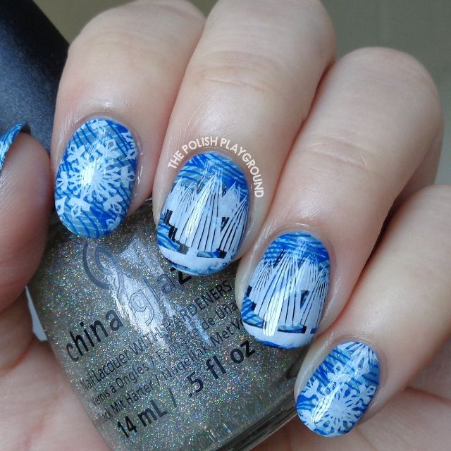 Winter Snowflakes and Trees Stamping