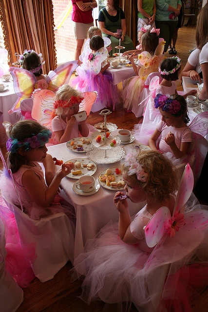 pink fairy tea party, so cute!!