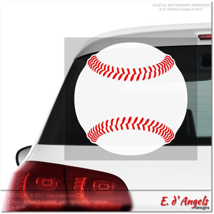 Baseball decal, car decal, vinyl decal custom, funny car decals, car decal, vinyl car decal, vinyl decal, custom vinyl decal