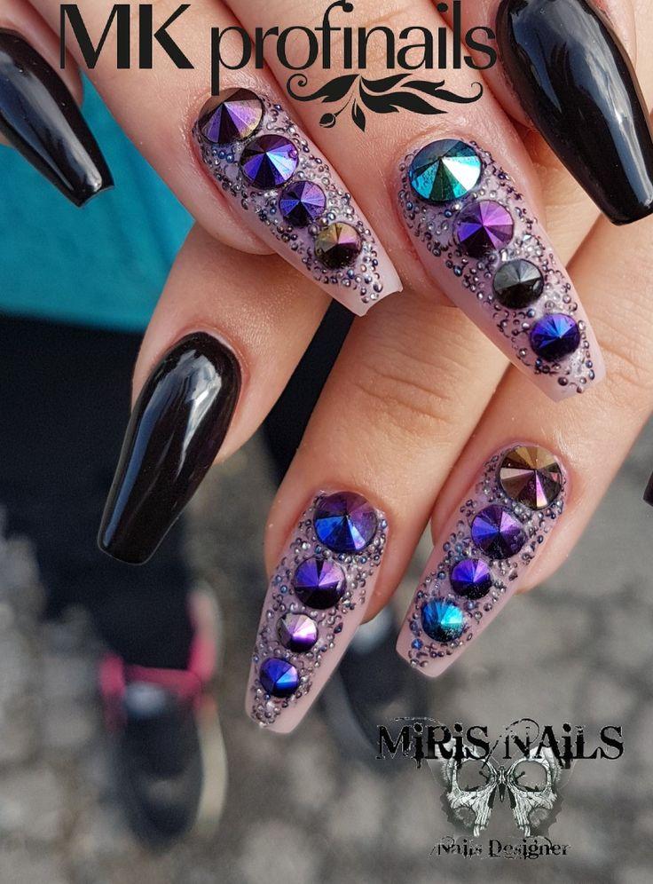 Blacknails#nails#lovenails#