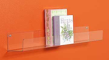 clear bookshelves