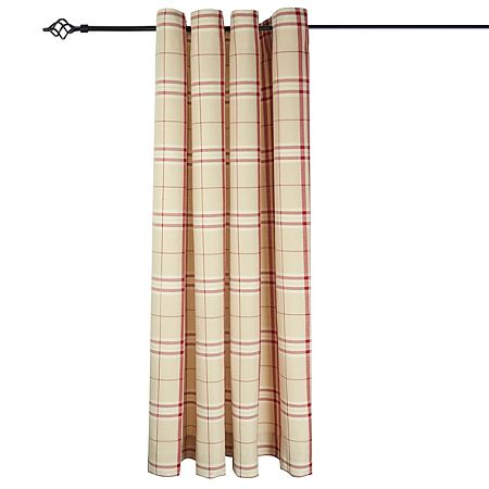 George Home Woven Check Curtain Red
