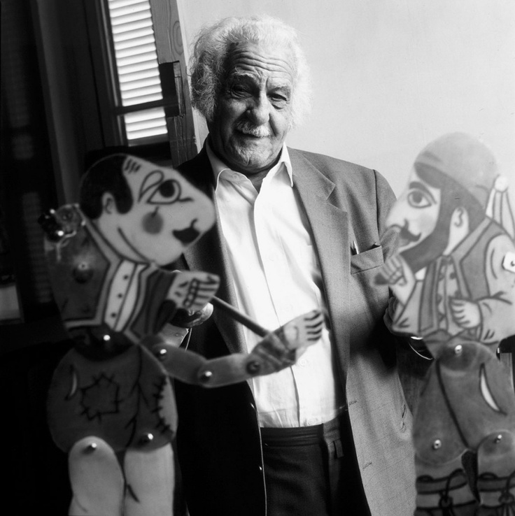 "Ευγένιος Σπαθάρης -Eugenios Spatharis ( 1924 - 2009 ).The most prominent ""shadow theatre "" artist in Greece, credited to have brought the traditional KARAGIOZIS to mass. audiences"