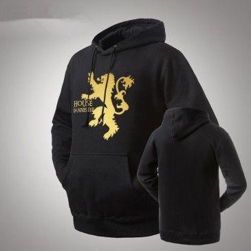 game of thrones lannister logo pullover hoodies images. Black Bedroom Furniture Sets. Home Design Ideas