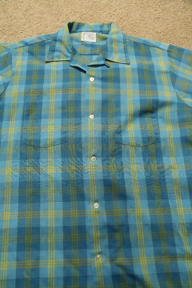 Men's Vintage 60s 70s Towncraft Button Down Shirt Short ...