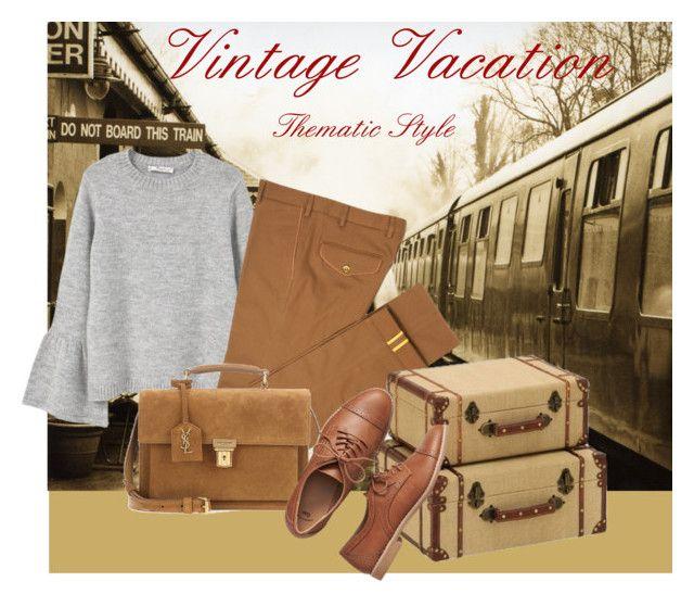 """vintage vacation denim 3"" by oripandora on Polyvore featuring MANGO, Diverso, Yves Saint Laurent, Gap and vintage"