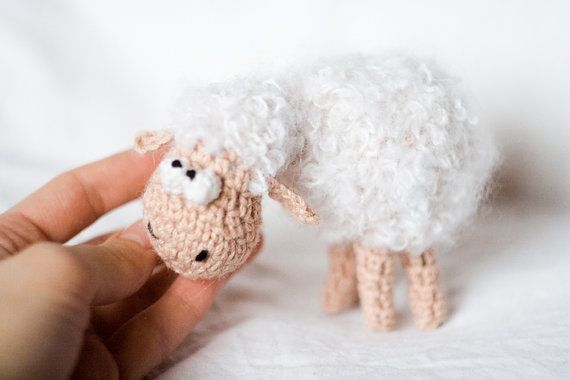 thoughtful sheep by totootse on Etsy,