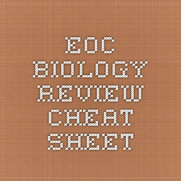EOC Biology Review Cheat Sheet