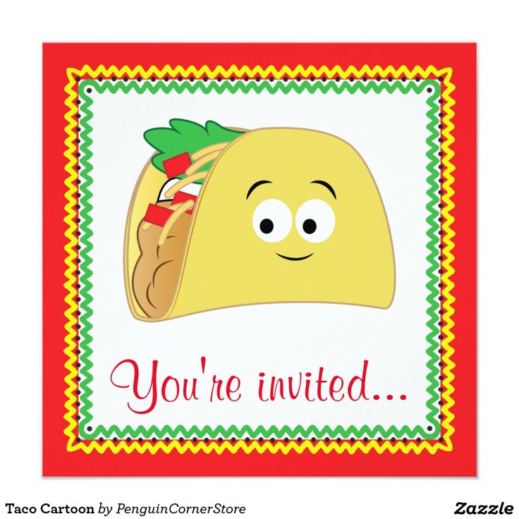 Taco Cartoon Card