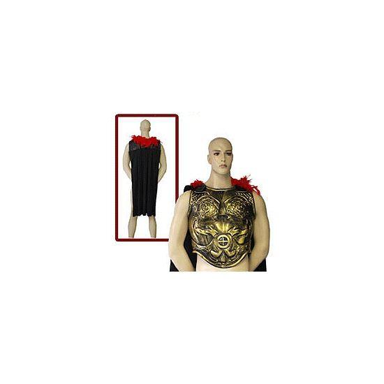 Romeins schild voor volwassenen  Romeins schild met cape en veren. Goudkleurig schild met rode veren en een lange zwarte cape. Het schild is geschikt voor volwassenen.  EUR 14.95  Meer informatie