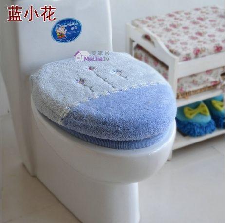 2PCS/set bathroom cute toilet 2 piece set warm toilet seats cover toilet mat washable potty ring cushion cover toilet lid set
