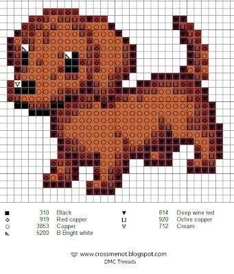 Brown dachshund pattern