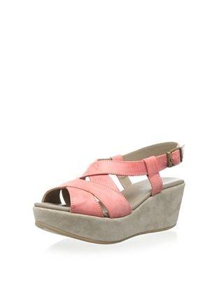 50% OFF Cordani Women's Darnell Wedge Sandal (Salmon Leather)