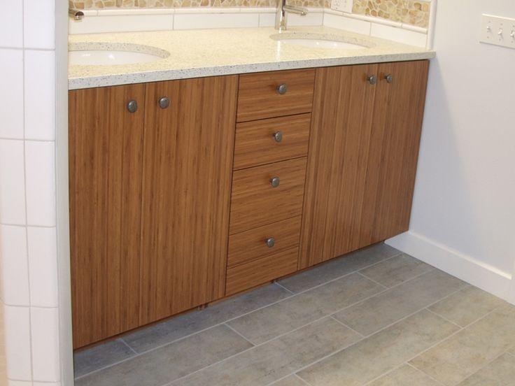Bamboo vanity cabinets bathroom