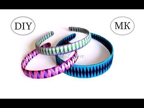(3) Как оплести ободок лентами? МК / How to Make Ribbon Woven Headband - YouTube