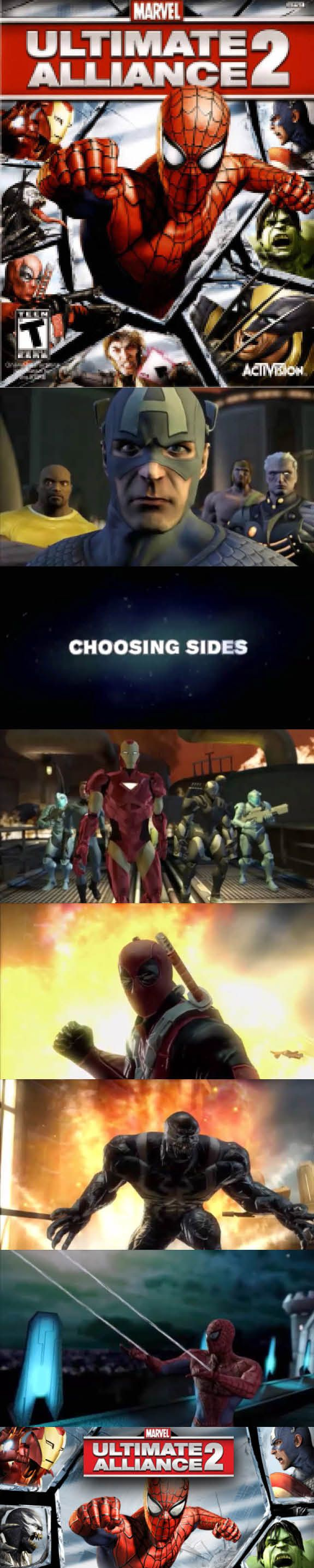 #SuperHeroGamer In #Marvel Ultimate Alliance 2 you have to choose a side between #Ironman and #CaptainAmerica http://www.levelgamingground.com/marvel-ultimate-alliance-2-review.html