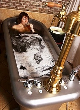 Imagine yourself in a Victorian style tub filled with beer where your skin soaks in the goodness of malt and hops. Perhaps lesser mortals serving you caviar and fanning you with peacock feathers would complete this surreal experience.  But back in the Czech Republic, it's a relaxing soak in warm, watered-down beer with a glass in hand that does it. #CoxandKings