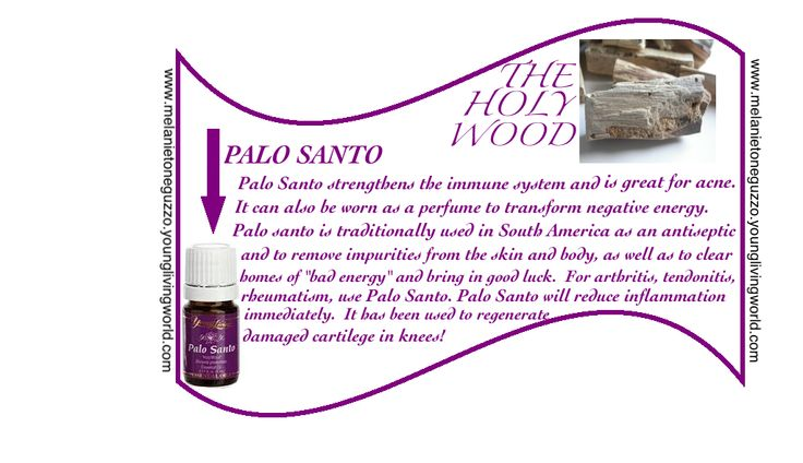 "Here's a great oil that most people don't know much about.    Palo Santo Essential oil can only be extracted from dead trees and fallen branches using ""Vapor Distillation"" without the use of dangerous chemicals or solvents.  This insures a high quality product cared for with Love and Respect."