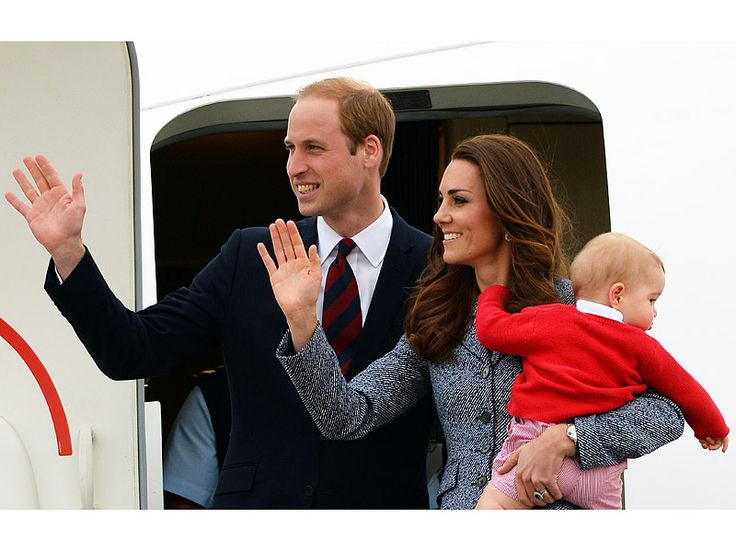 The Cambridge Family on a Royal Tour in 2014 ~ Prince William, Duke of Cambridge, Catherine, Duchess of Cambridge and Prince George of Cambridge.