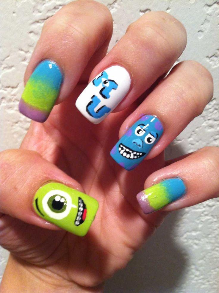 Monsters, Inc. nail design :: one1lady.com :: #nail #nails #nailart #manicure