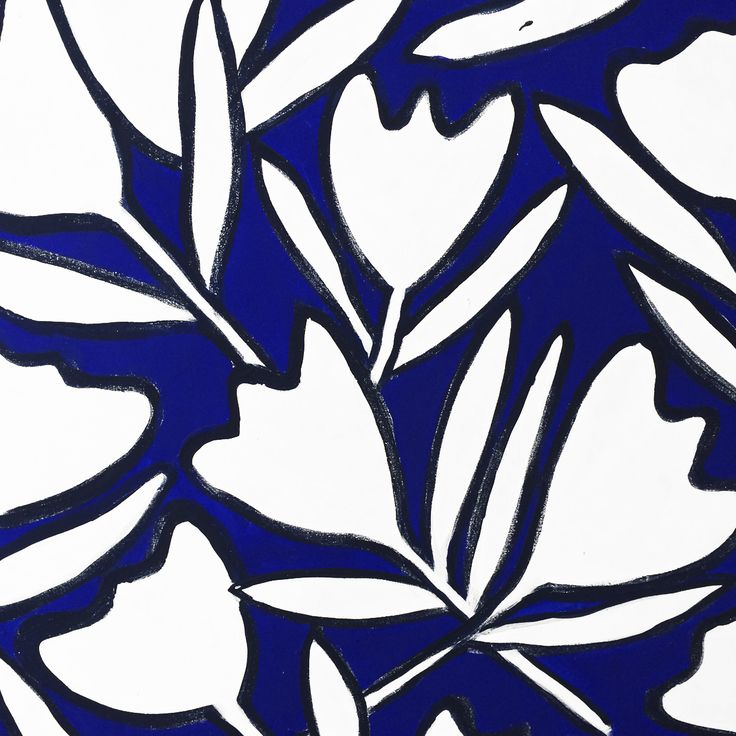 Particolare in bianco e blu con tulipani. Collezione privata di STRA-DE  STRATEGIC-DESIGN.