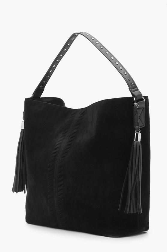 Whip Stitch   Tassel Shoulder Bag  cf7b11b143ae3