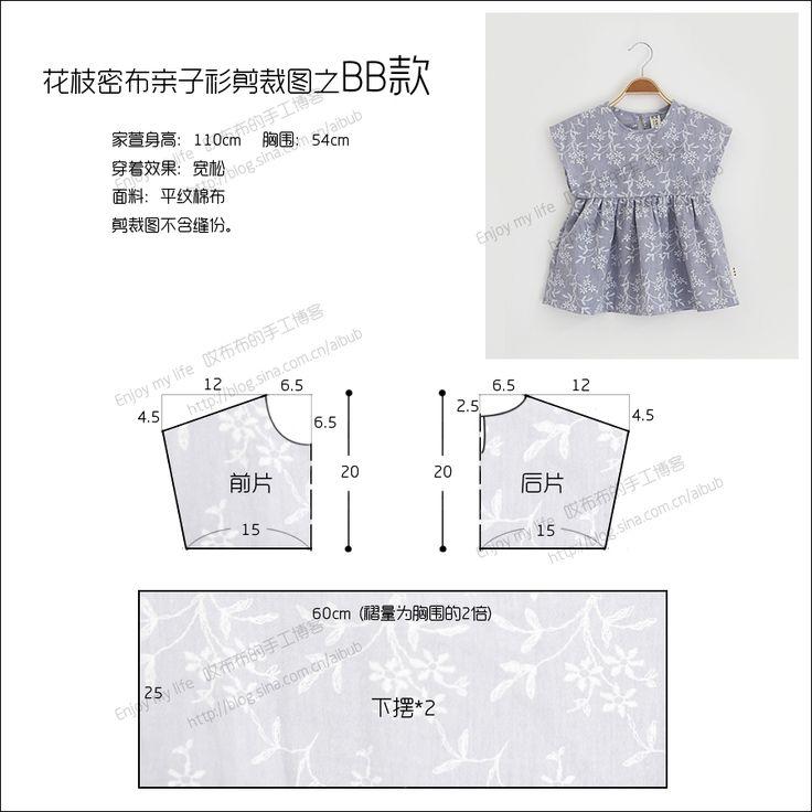 Molde para hacer una blusa corte imperio para niñas06