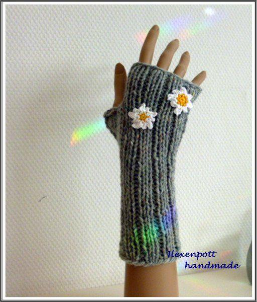 Armstulpen - Stulpen Tweed EDELWEISS - ein Designerstück von Hexenpott bei DaWanda