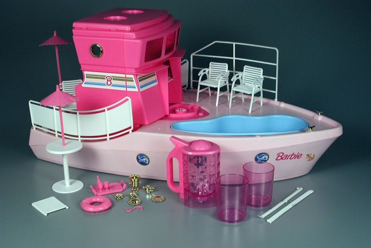 Barbie Dream Boat 1994 with Blender- i loved playing with Barbies when I was younger and wanted everything that came out but when I seen this thing that made smoothies i thought it was the best thing since sliced bread lol and when I got it that Xmas it was in fact the best thing ever lol