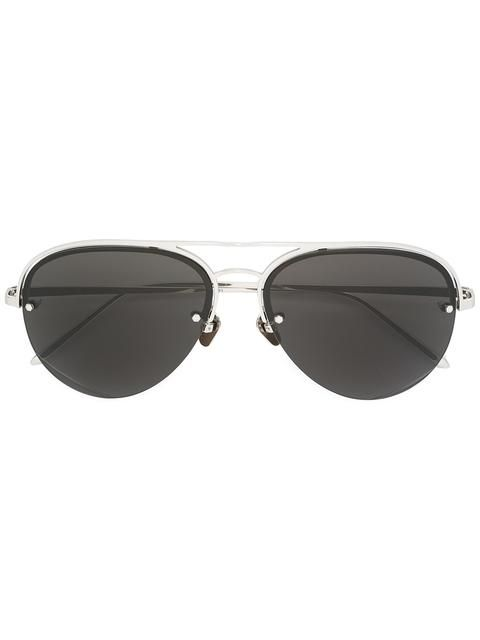 LINDA FARROW aviator shaped sunglasses. #lindafarrow #飞行员框太阳眼镜