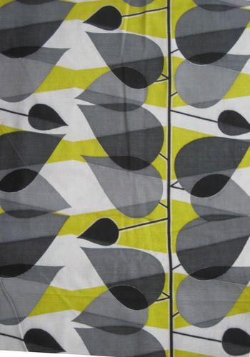 Vintage mid-century leaf print barkcloth fabric | eBay
