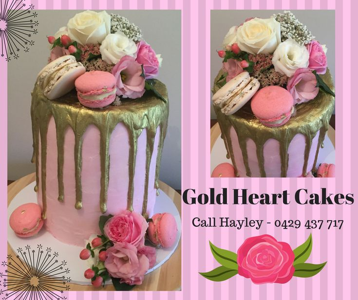 Gold Drizzle & Fresh Flowers  http://goldheartcakes.website/drizzle/2018/3/4/gold-drizzle-fresh-flowers